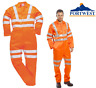 More images of Portwest Hi Vis Boiler Suit Coverall Overall Reflective Railway Workwear RT42