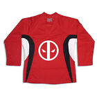 DeadPool Multi Color Hockey Jersey Optional Name & Number - Red