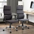 'Office Chair Thick Padded Executive Computer Seat Adjustable 2 Colours Home