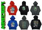 Boys Official Mojang Minecraft Creeper Boss Pixel Hoody Sweat Jumper 11-12 Years