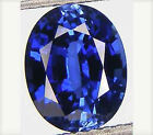 Blue Sapphire Oval Lab Created Faceted (5x3mm to 16x12mm)