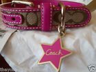 NEW COACH HOT PINK STAR SIGNATURE EXTRA SMALL DOG COLLAR XS