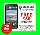 reasonable cell phone plans - NEW SIMPLE Mobile LG Grace 4G LTE 8GB Cell Phone Black +$60/Month Unlimited Plan