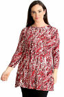 New Womens Plus Size Top Ladies Abstract Print Swing Style Tunic Tie Dye Sale