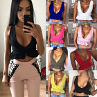 HOT Womens Ladies V Neck Crop Tops Summer Frill Bralet Boobtube Top Party Blouse