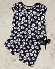 Six Bunnies Whole Lotta Skulls Short Pyjama Set Baby Cute Sleepwear Gothic Punk