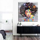 African WomAn Portrait Canvas Wall Oil Painting Prints Living Room Decor