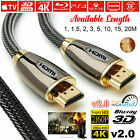 1M 2M 3M VGA / SVGA 15 PIN MALE TO MALE PC MONITOR TV LCD PLASMA LED TFT CABLE