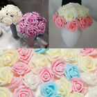 DIY 100 Foam Rose Heads Artificial Flowers Wedding Party Decor