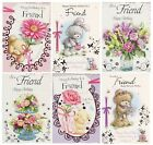 CUTE TRADITIONAL FRIEND BIRTHDAY CARD 1ST P&P VARIOUS DESIGNS GREETING CARDS