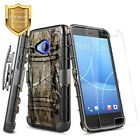 HTC U11 Case Cover With Premium Tempered Glass Protector Armor Shock Proof Camo