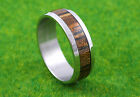 Gatik R1038 Gents 316L Stainless Steel Tiger Pattern Inlay 7.5mm Band Ring