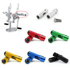 CNC Folding Foot Pegs Footpeg Rear Set Rest Racing Fit Universal Motorcycle UE image
