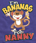 Nanny banana one-pieces robber body suit baby shower birthday gift x