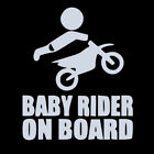 New Baby Motocross Rider On Board Sign PET Car Stickers Decal Accessories Cute