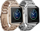 Platinum Fitbit Blaze Watch Band Strap Stainless Steel Silver or Rose Gold New