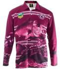 MANLY SEA EAGLES NRL ADULT LONG SLEEVE FISHING POLO SHIRT WITH COLLAR