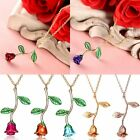 Silver/Gold Rose Flower Pendant Necklace Women Spring Jewelry Wedding Bride Gift