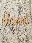 Wooden Laser Cut Inspiration Words Blessed 12 Inch High 1/4 Inch Baltic Birch