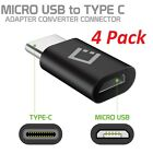 4 Pack of Micro USB to USB-C Adapter Converter Connector for Type-C Devices