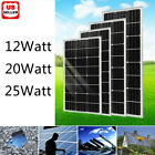 12W 20W 25W Watts Solar Panel 12V Poly Off Grid Battery Charger for RV Boat Home