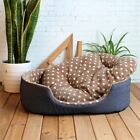 VERY NICE BEAUTIFUL TRENDY COMFY SOFT FLEECE PET DOG CAT KENNEL BED
