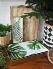 Gold/Green/Greenery Tropical Palm/Monstera Leaves/Leaf Serving/Display Tray