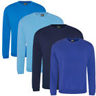 Big Tall Mens Plain Blue Sweatshirt Sweater Jumper 2XL, 3XL, 4XL, 5XL, 6XL, 7XL