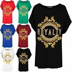 Women Ladies Batwing Royalty Hipster Urban Streetwear Baggy Stretchy Top T Shirt