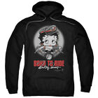 Betty Boop Born To Ride Pullover Hoodies for Men or Kids $27.05 USD