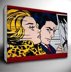"""ROY LICHTENSTEIN """" In The Car """" Giclee Canvas Wall Art Print *Choose your size"""
