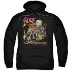 Betty Boop On Wheels Pullover Hoodies for Men or Kids $27.05 USD