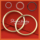 6-8-10mm Sterling Silver Small Hoop Earring Sleeper Ear Nose Lip Piercing Ring