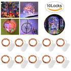 6-10pcs 2M/4M LED Copper Wire Fairy Starry Lights String Festival Party Decor