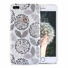 For iPhone 7/8 Plus Fashion 3D Floral Design Thin Slim Soft TPU Clear Back Case