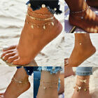 Gold Silver Ankle Bracelet Women Anklet Adjustable Chain Foot Beach Jewelry  image