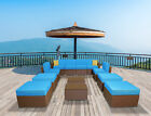 Patio furniture sectional Sets Wicker Rattan Couch Sofa Chair Luxury Big 12 PC