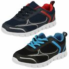 Boys Reflex Lightweight Lace Up Synthetic & Textile Trainers N1R089