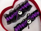New Purple Black Nightmare Before Christmas Jack Skellington Wedding Garters
