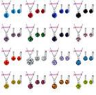 Cute Candy Color AAA Grade CZ Crystal Jewelry Sets For Women
