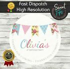 CLASSIC EDIBLE ROUND BIRTHDAY CAKE TOPPER DECORATION PERSONALISED