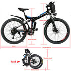 26'' ANCHEER E-Bike Electric Bicycle Super MEN Mountain Bike W/Lithium Battery