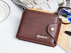 Men's  Genuine Leather Business Wallet with COINS POCKET Zipper Purse 02