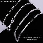 Box Sterling Silver Necklace Chain Length 16