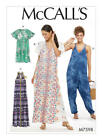 M7598 McCall's EASY Sewing Pattern Loose Fitting Dress Jumpsuit Misses 6-22