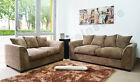 Sale Byron Dilon Fabric Sofa Suite Set 3+2+1 Swivel Cuddle Chair L Shape Corner <br/> Grey Black Mink Brown Jumbo Cord Leather Settee Couch