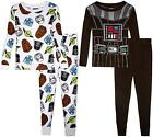 Star Wars Toddler Boys 4pc Snug Fit Pajama Pant Set Size 2T 3T 4T