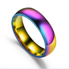 Fashion Szie 6-13 Women Men Colorful Girl Rainbow Couple Ring Present