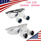 surgical magnifying loupes - Dental Surgical Medical Binocular Loupes 2.5X 3.5x 320mm 420mm Magnifier Glasses