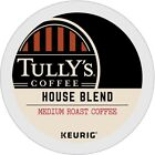Tully's House Blend Coffee 24 to 144 Keurig K cups Pick Any Size FREE SHIPPING